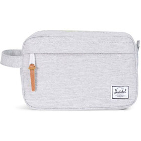 Herschel Chapter Travel Kit Light Grey Crosshatch